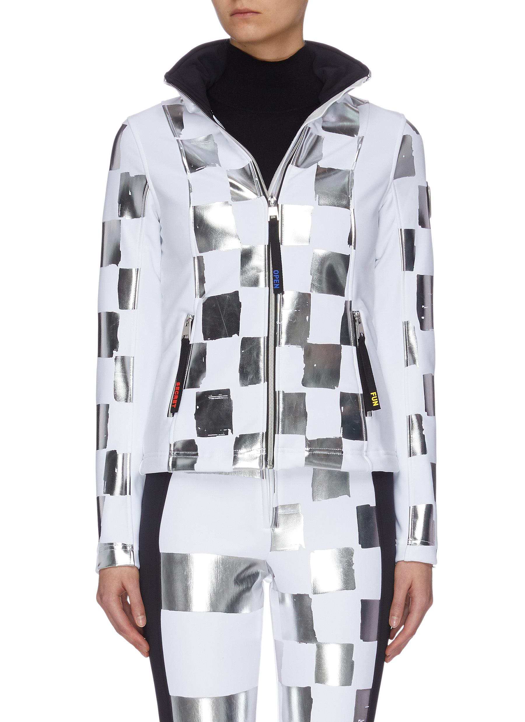 Buy Rossignol Jackets x JCC 'Wari' metallic check soft shell ski jacket