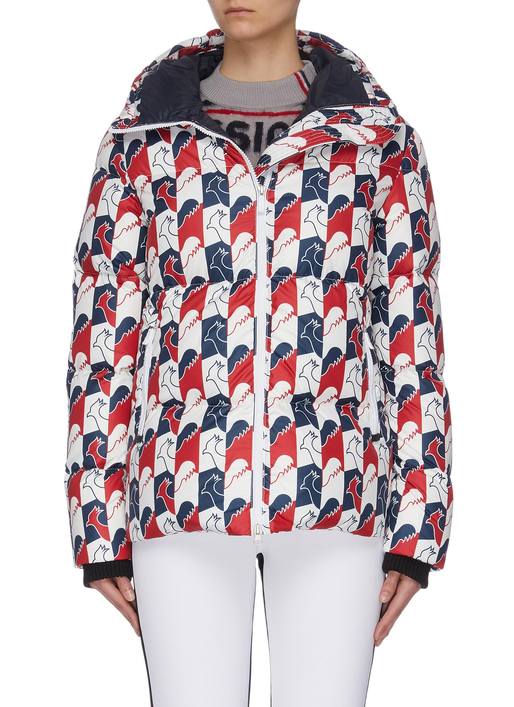 Buy Rossignol Jackets 'Abscisse' rooster print hooded puffer jacket