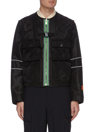 Main View - Click To Enlarge - HERON PRESTON - Detachable Sleeves Nylon Utility Jacket