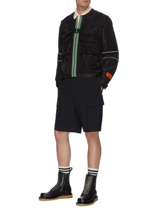 Figure View - Click To Enlarge - HERON PRESTON - Detachable Sleeves Nylon Utility Jacket