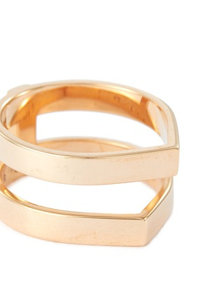 Detail View - Click To Enlarge - REPOSSI - Antifer' 18k rose gold two row ring