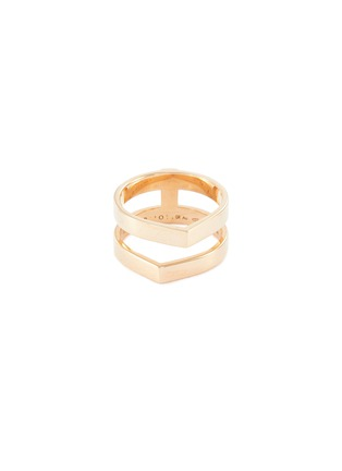 Main View - Click To Enlarge - REPOSSI - Antifer' 18k rose gold two row ring