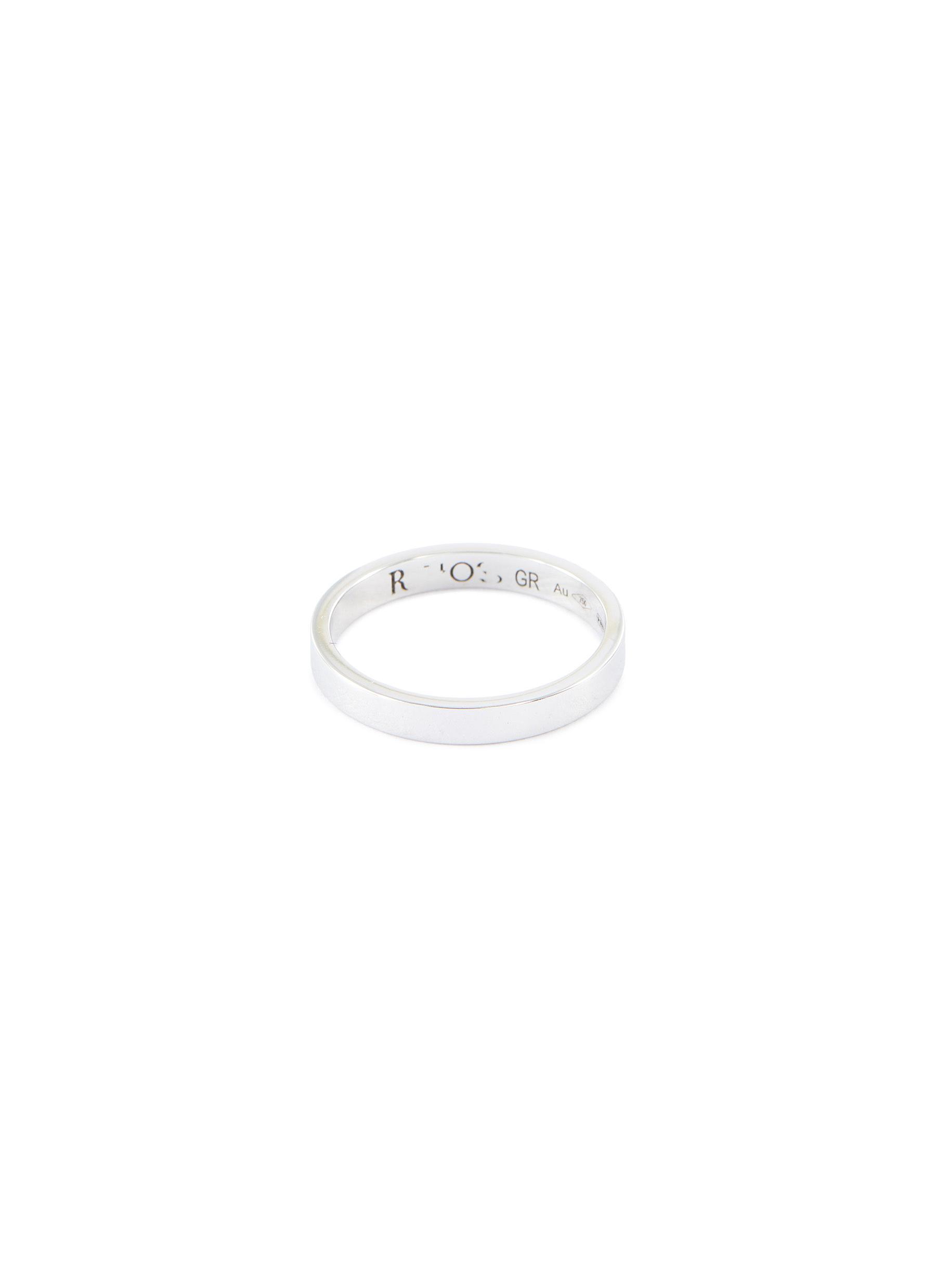 Repossi 'berbère' 18k White Gold Ring In Metallic