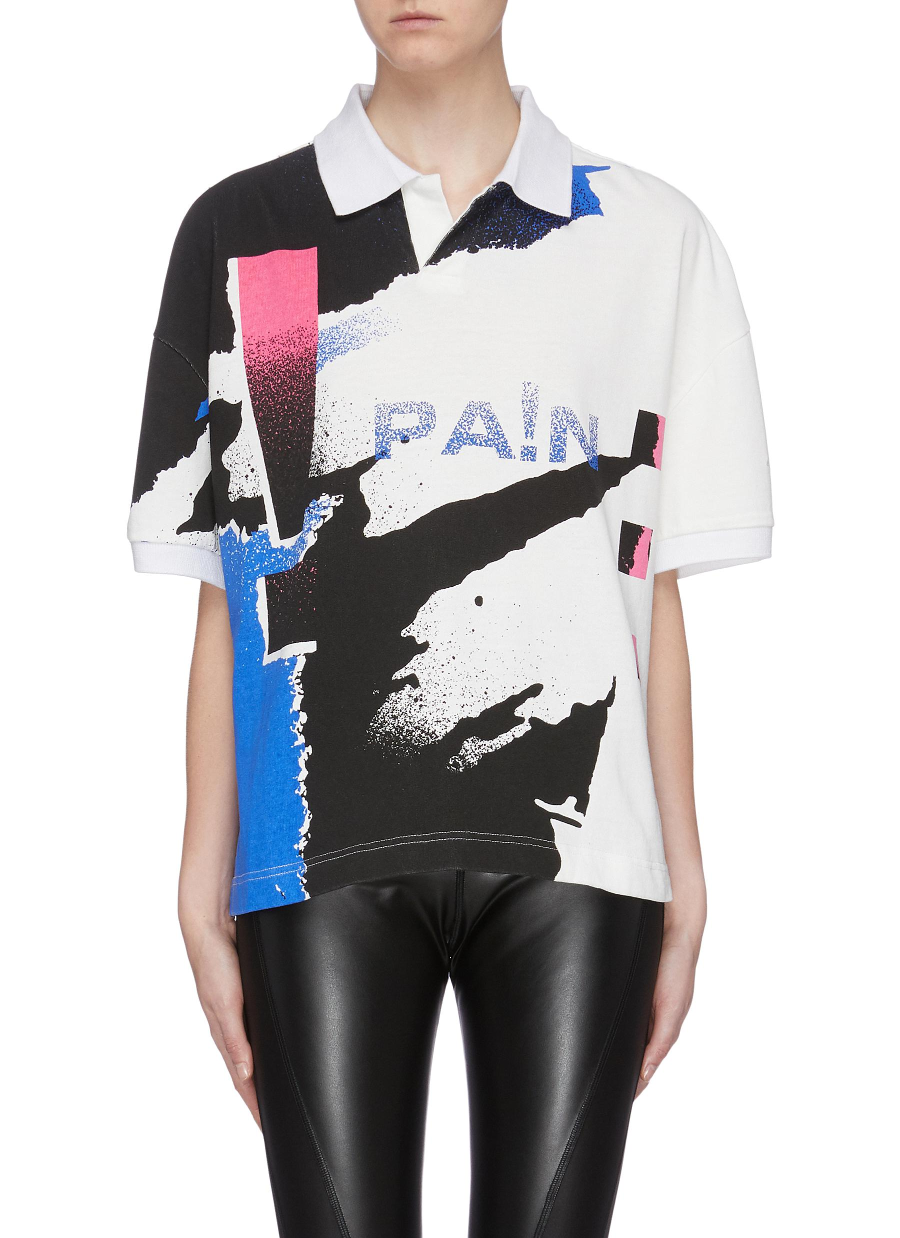 Graphic print polo shirt by Alexanderwang