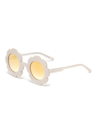 Main View - Click To Enlarge - SONS + DAUGHTERS - 'Pixie' acetate flower frame kids sunglasses