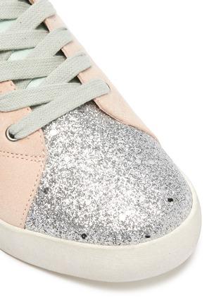 Detail View - Click To Enlarge - SAM EDELMAN - 'Geri Starpower' suede panel glitter kids sneakers