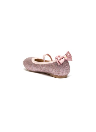 Detail View - Click To Enlarge - SAM EDELMAN - 'Felicia Esmerelda' glitter bow tab toddler ballerina flats