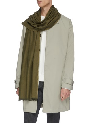 Figure View - Click To Enlarge - CONNOLLY - 'Fetlar' cashmere scarf