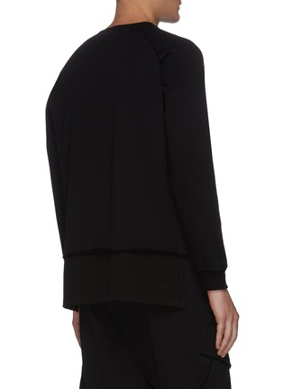 Back View - Click To Enlarge - THE VIRIDI-ANNE - Layered Hem Sweatshirt