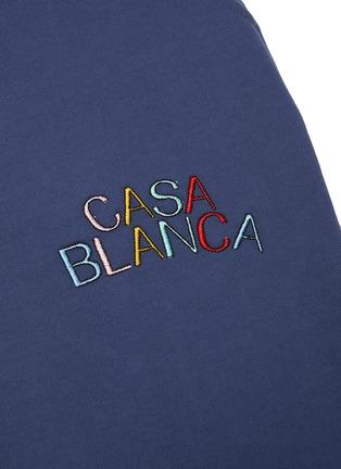 - CASABLANCA - Logo embroidered sweatpants