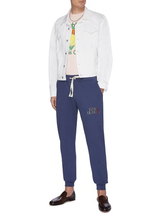 Figure View - Click To Enlarge - CASABLANCA - Logo embroidered sweatpants