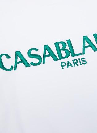- CASABLANCA - Logo embroidered sweatshirt