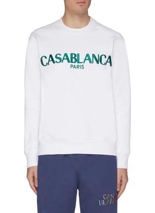 Main View - Click To Enlarge - CASABLANCA - Logo embroidered sweatshirt