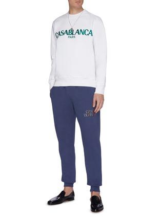 Figure View - Click To Enlarge - CASABLANCA - Logo embroidered sweatshirt