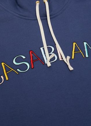 - CASABLANCA - Logo embroidered hoodie