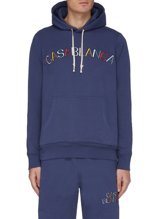 Main View - Click To Enlarge - CASABLANCA - Logo embroidered hoodie
