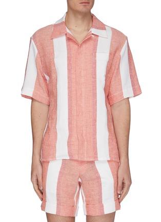 Main View - Click To Enlarge - CASABLANCA - Stripe bowling shirt