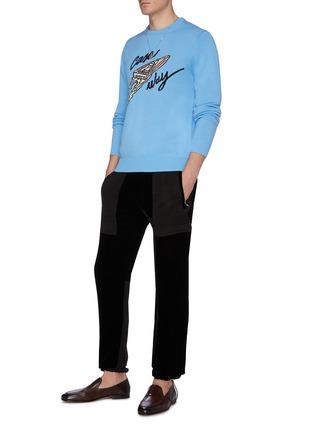 Figure View - Click To Enlarge - CASABLANCA - 'Casa Way' intarsia sweater