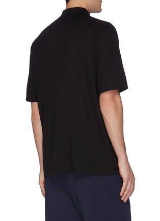 Back View - Click To Enlarge - Y-3 - Logo print classic pique polo