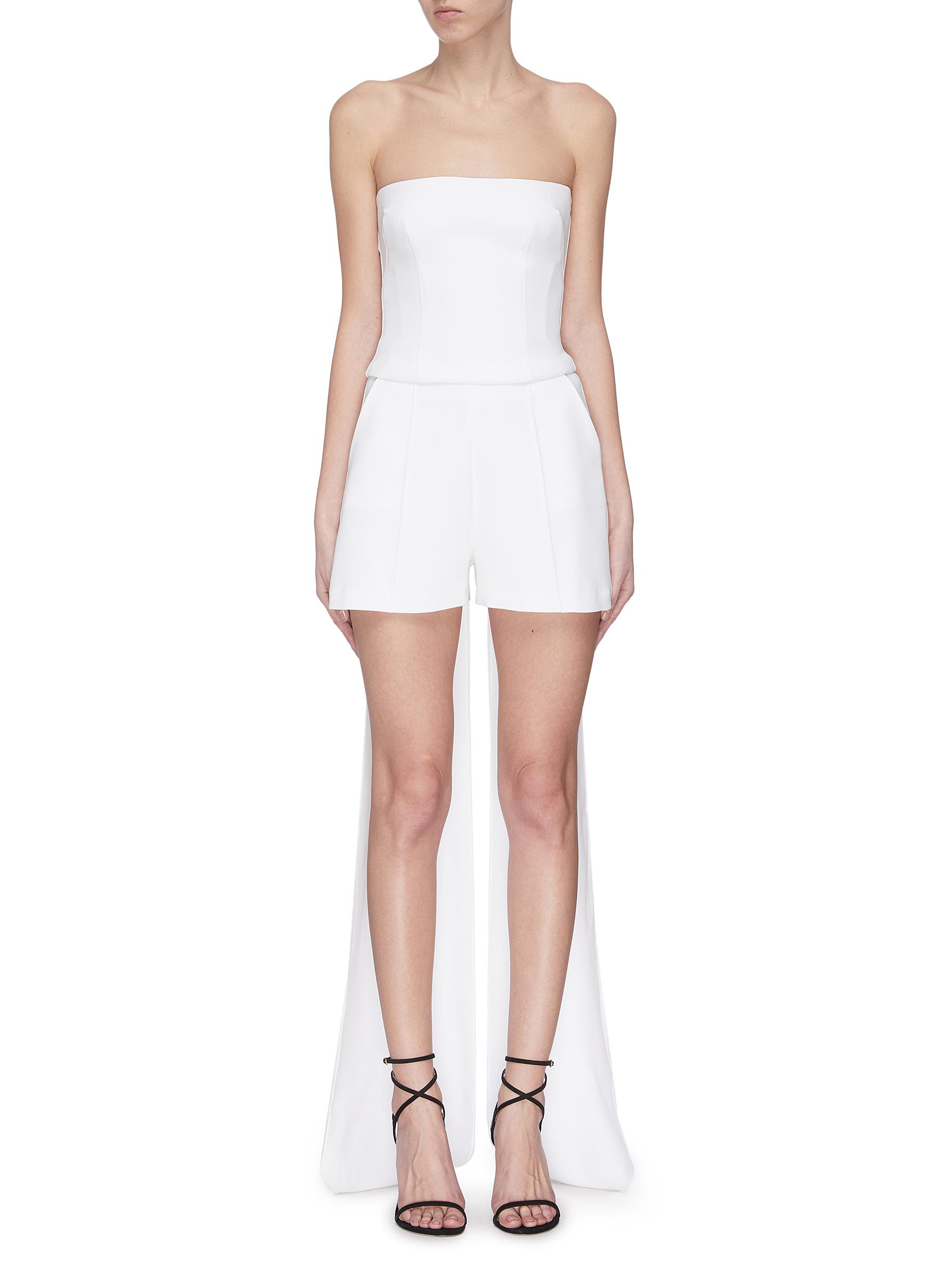 shop Alex Perry Strapless back sash tube top online