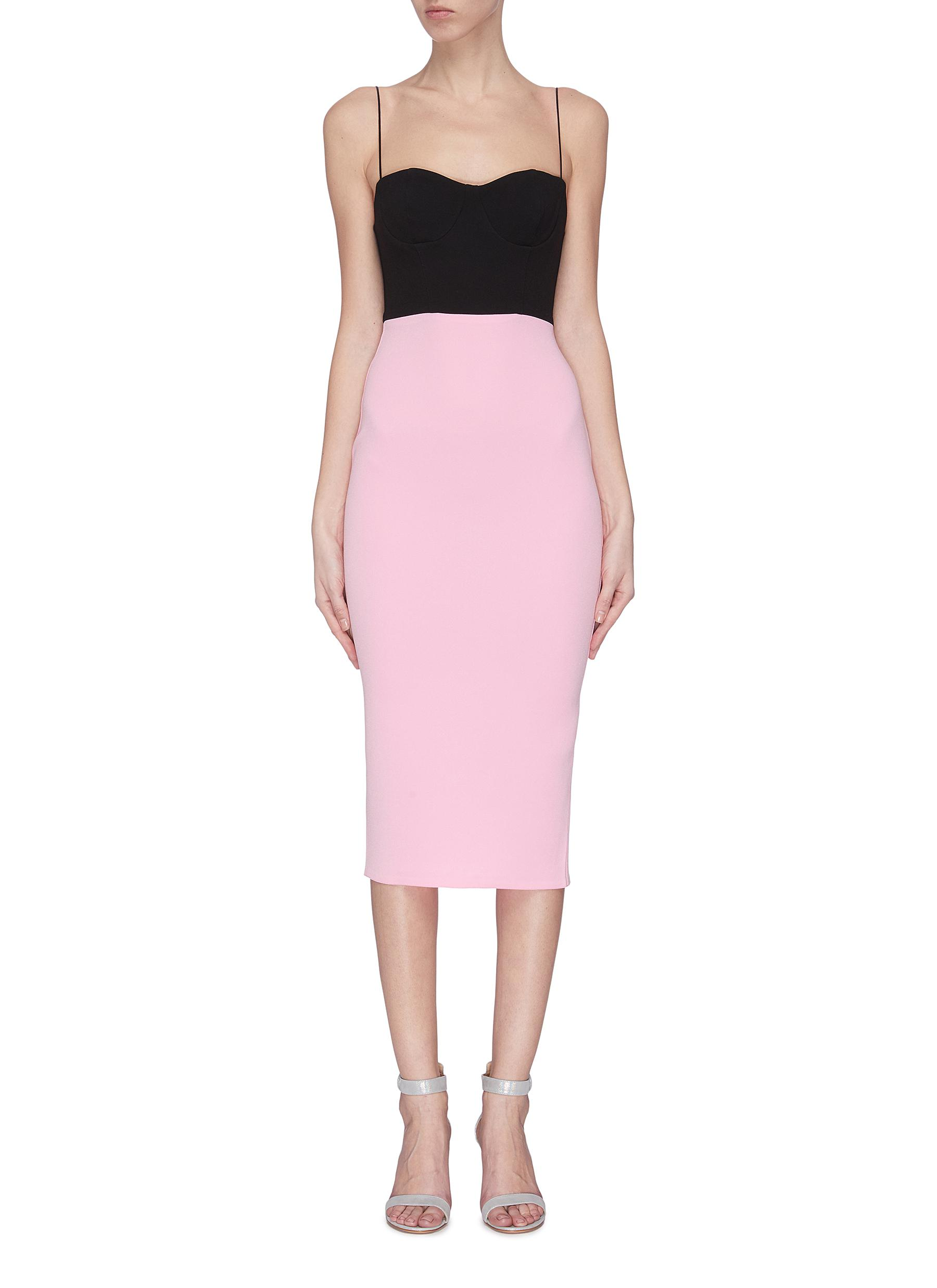shop Alex Perry Colourblock fitted dress online