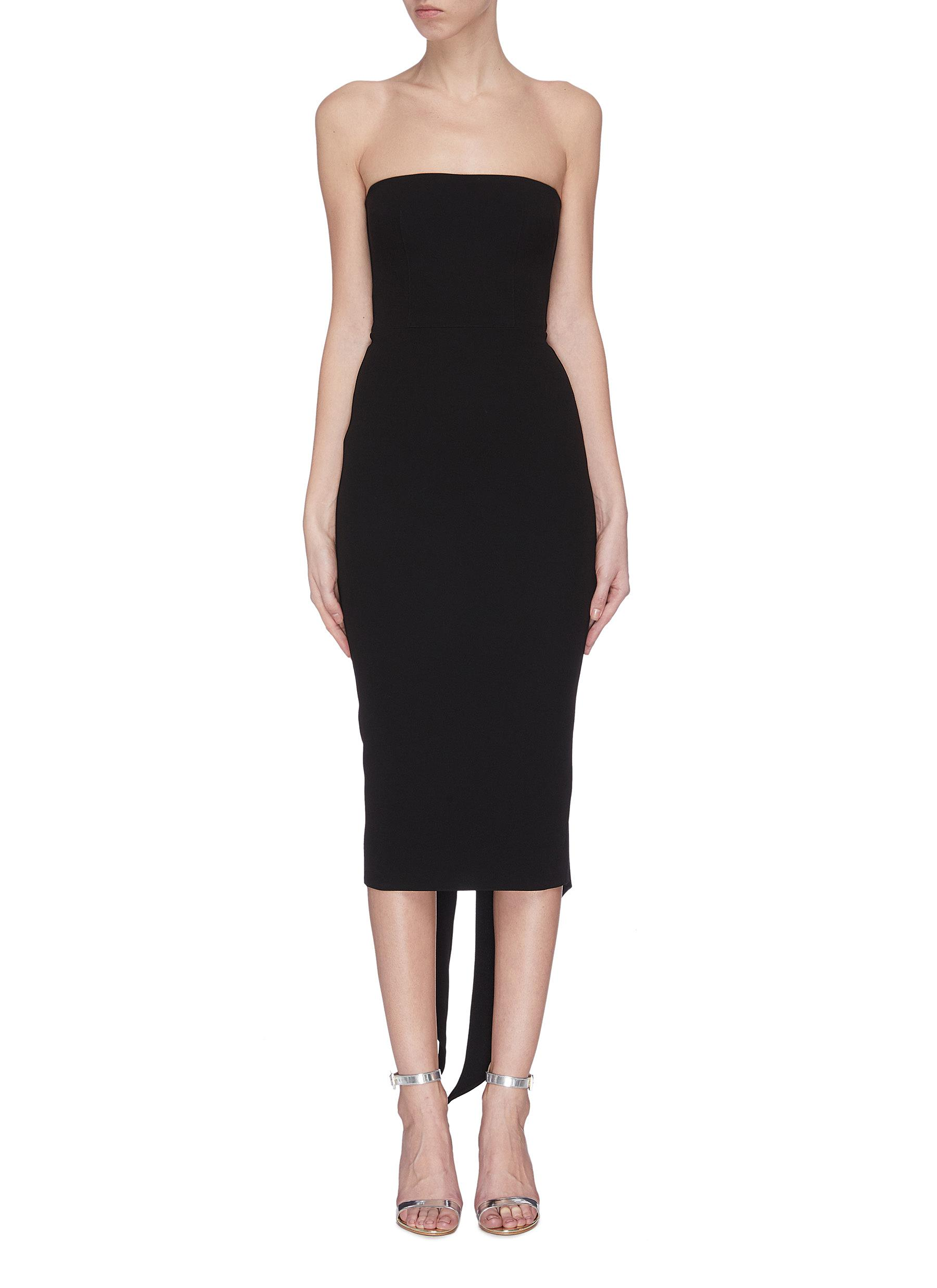 shop Alex Perry Back sash fitted dress online