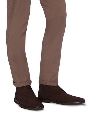 Figure View - Click To Enlarge - CONNOLLY - Suede driving boots