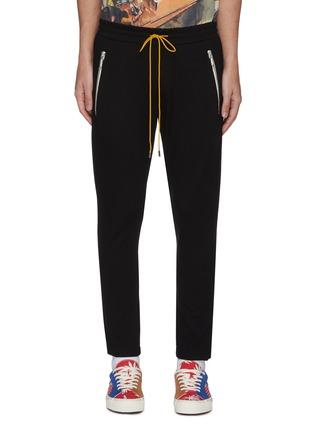 Main View - Click To Enlarge - RHUDE - 'Traxdo' contrast drawstring jogging pants
