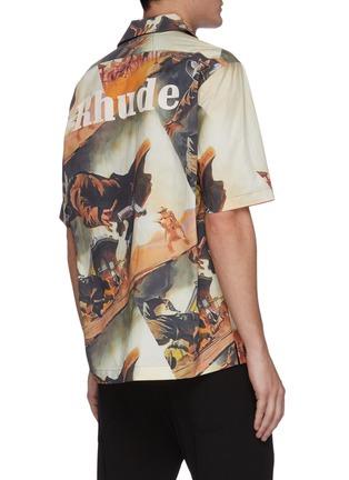 Back View - Click To Enlarge - RHUDE - Gunslingers graphic print Hawaiian shirt