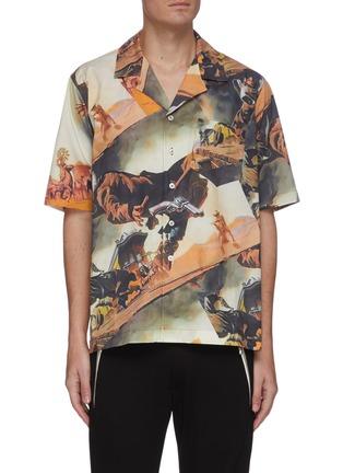 Main View - Click To Enlarge - RHUDE - Gunslingers graphic print Hawaiian shirt