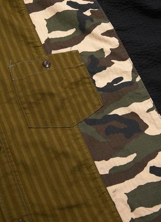 - FDMTL - Oversized rinse camouflage patchwork shirt