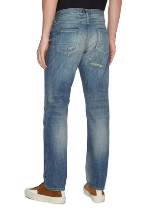 Back View - Click To Enlarge - FDMTL - 'CS65' Slim fit distressed jeans