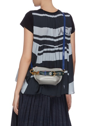 Front View - Click To Enlarge - SACAI - 'Trapezoid' colourblock pouch