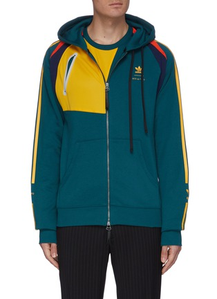 Main View - Click To Enlarge - ADIDAS X BED J.W. FORD - Colourblock stripe outseam hooded jacket