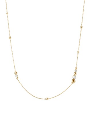 Main View - Click To Enlarge - JOHN HARDY - 'Dot' diamond 18k yellow gold station necklace