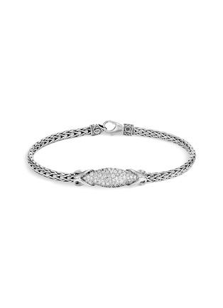 Main View - Click To Enlarge - JOHN HARDY - 'Asli Classic Chain' diamond silver medium bracelet