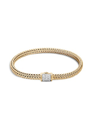 Main View - Click To Enlarge - JOHN HARDY - 'Classic Chain' diamond 18k gold bracelet