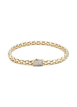 Main View - Click To Enlarge - JOHN HARDY - Dot' diamond 18k yellow gold bracelet