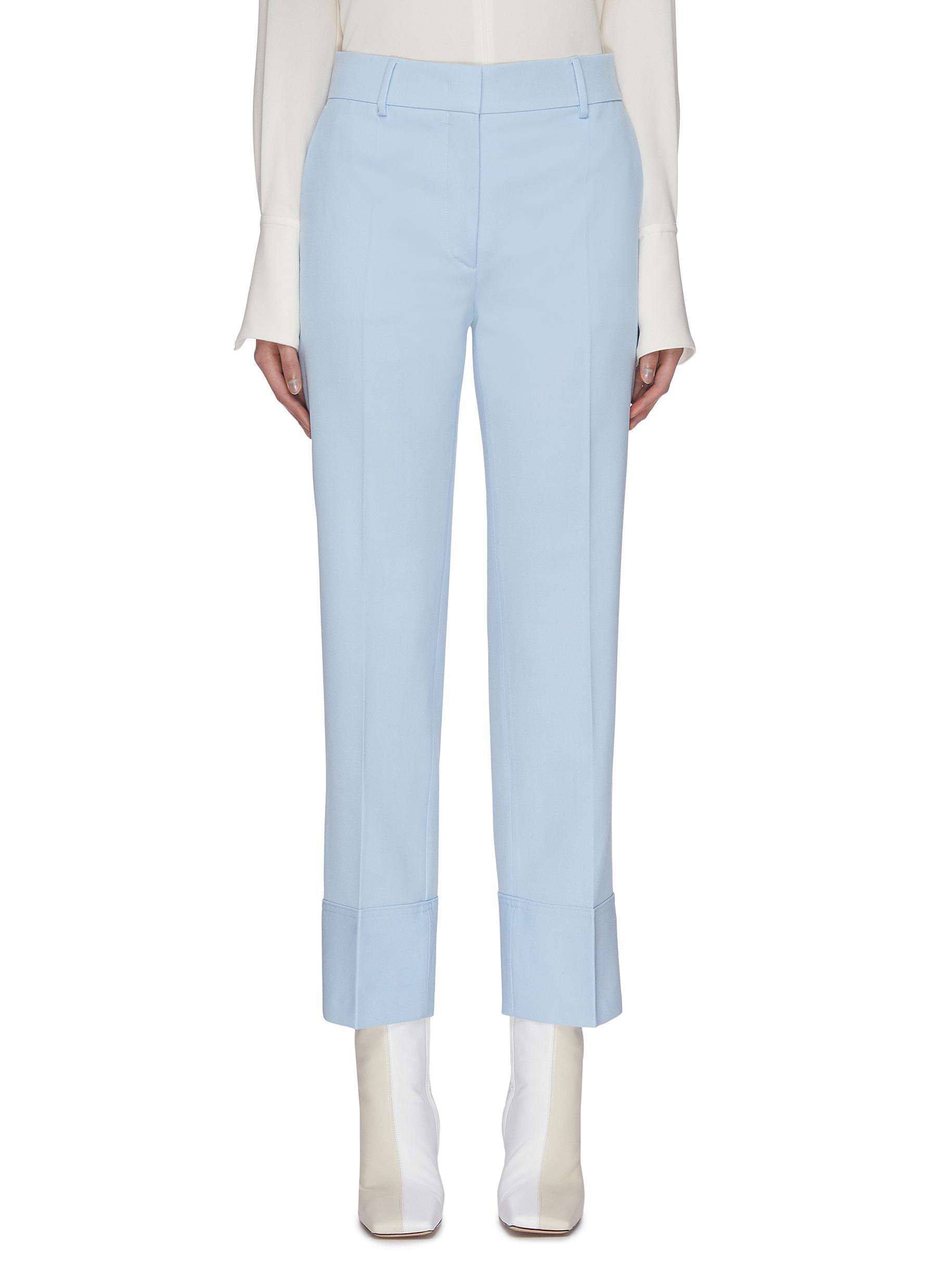 shop Cédric Charlier Folded hem suiting pants online