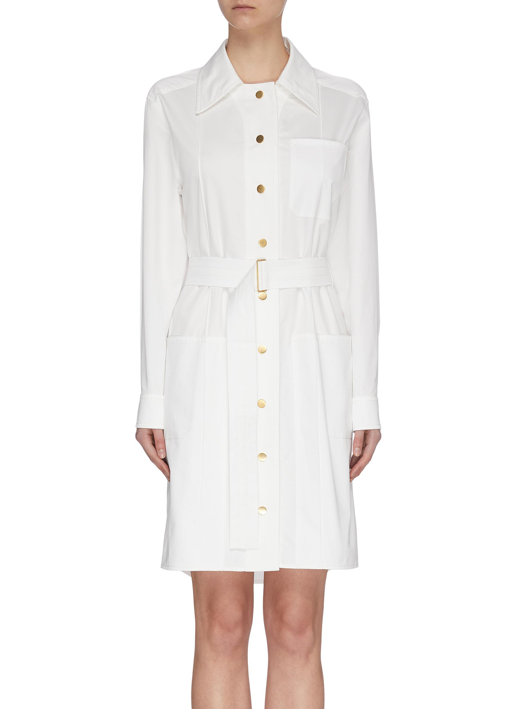 Buy Cédric Charlier Dresses Belted Shirt Dress