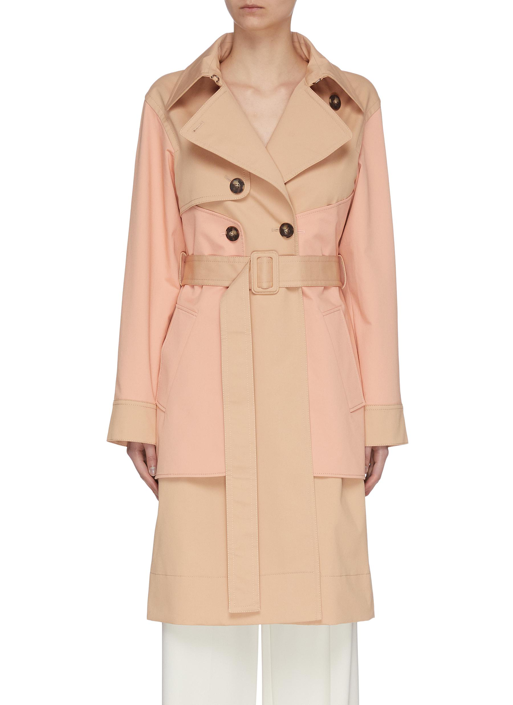 shop Cédric Charlier Panelled Trench Coat online