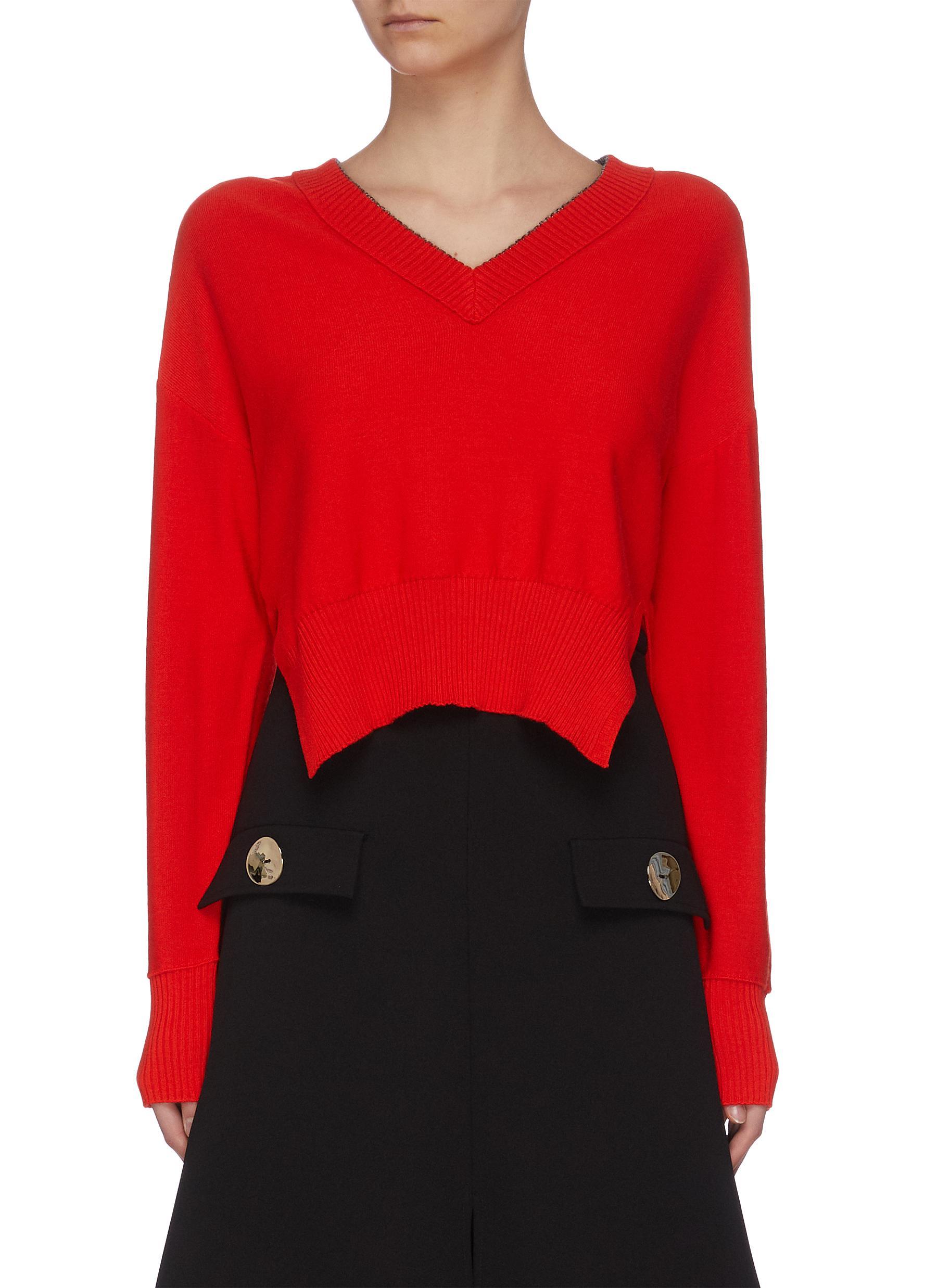 shop Cédric Charlier Slit hem knit top online