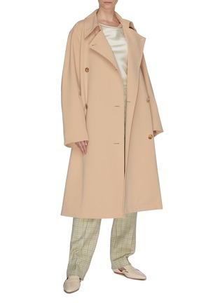 Figure View - Click To Enlarge - NINA RICCI - Double breast trench coat