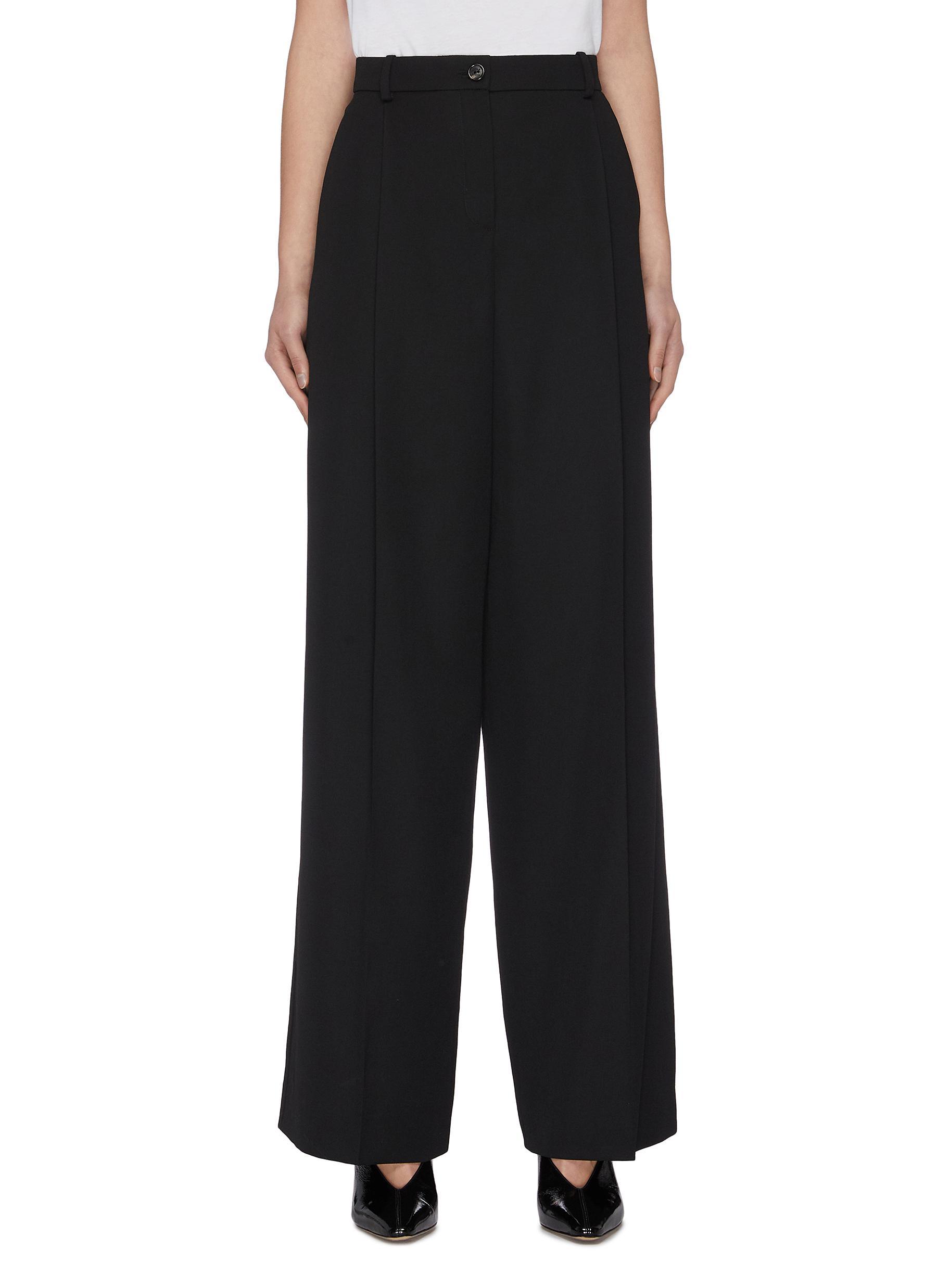 Buy Nina Ricci Pants & Shorts Wide leg wool suiting pants