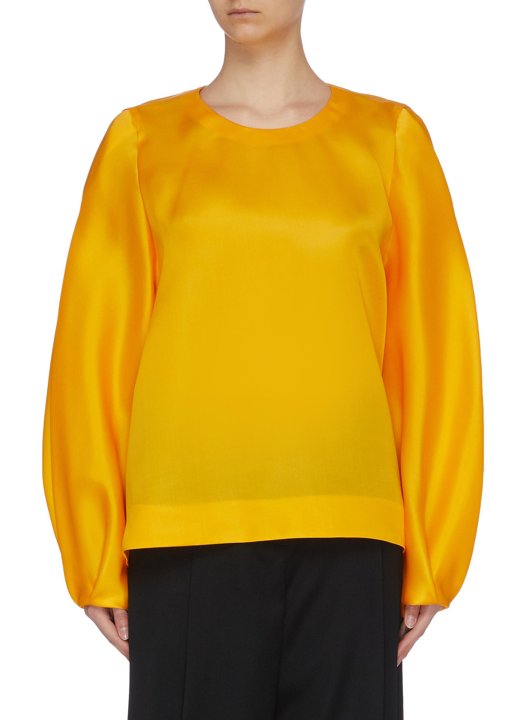 shop Nina Ricci Fluid silk bishop sleeve top online