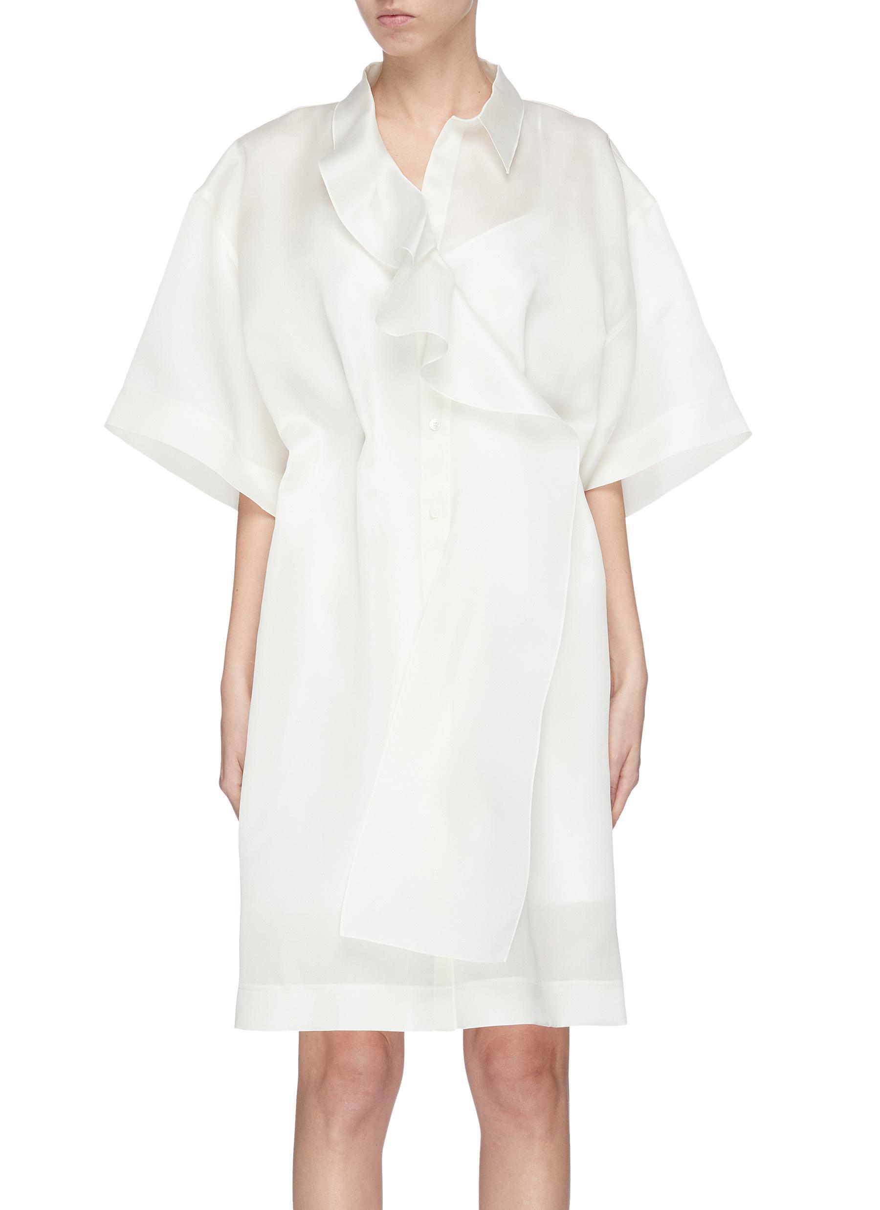 Buy Nina Ricci Dresses Cascading ruffle short sleeve dress