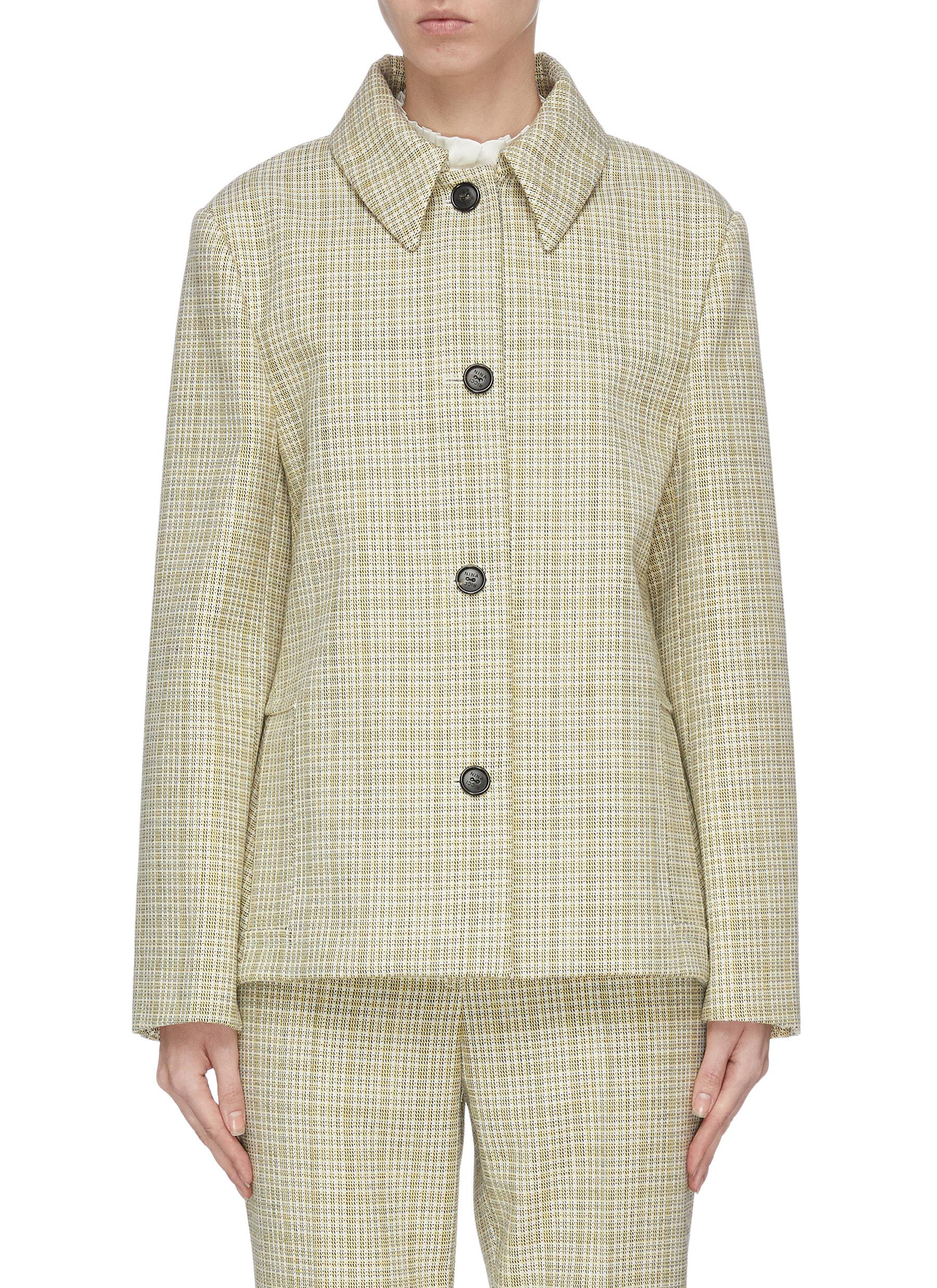 shop Nina Ricci Plaid check suit jacket online