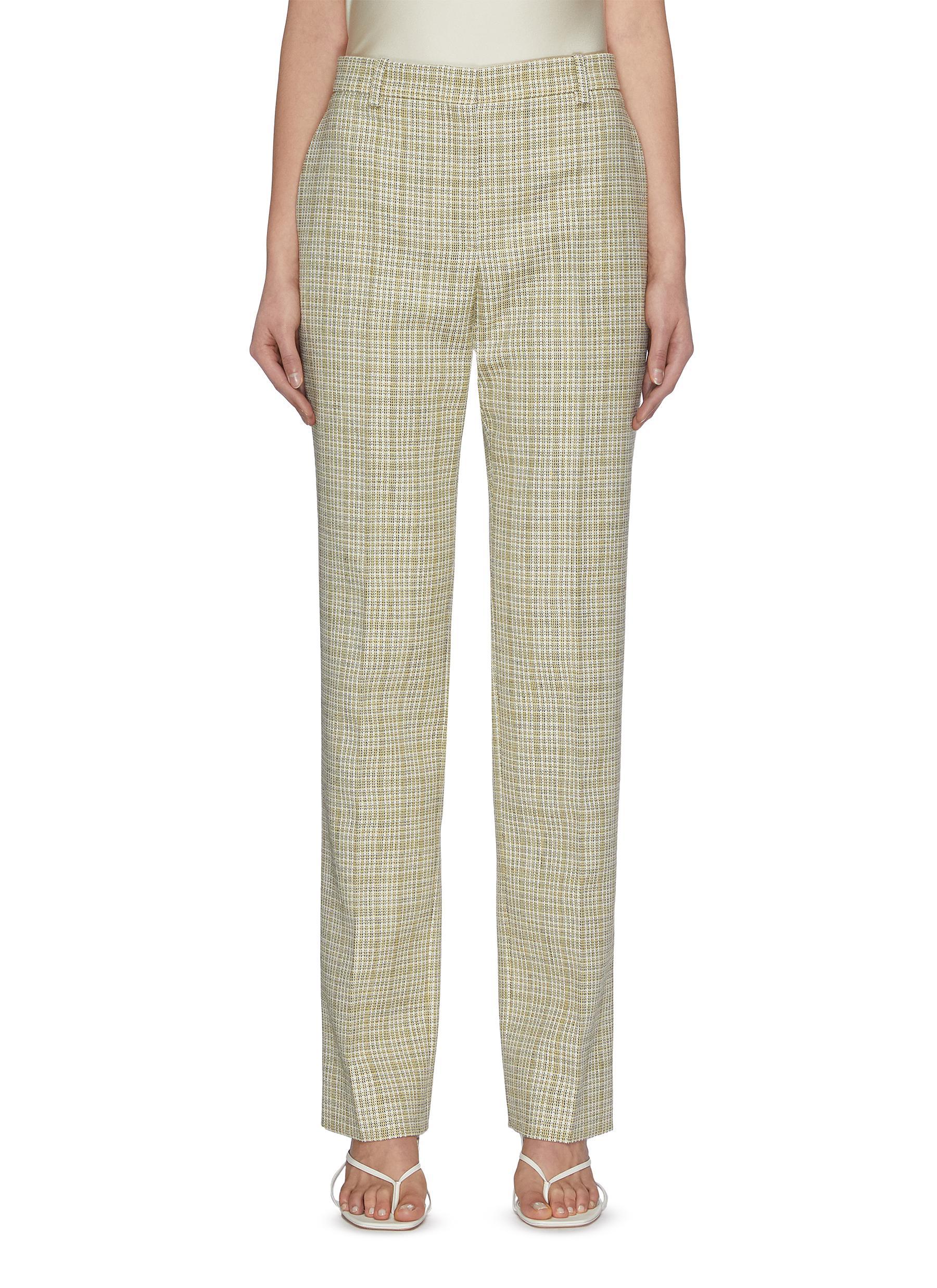 shop Nina Ricci Check tailored pants online