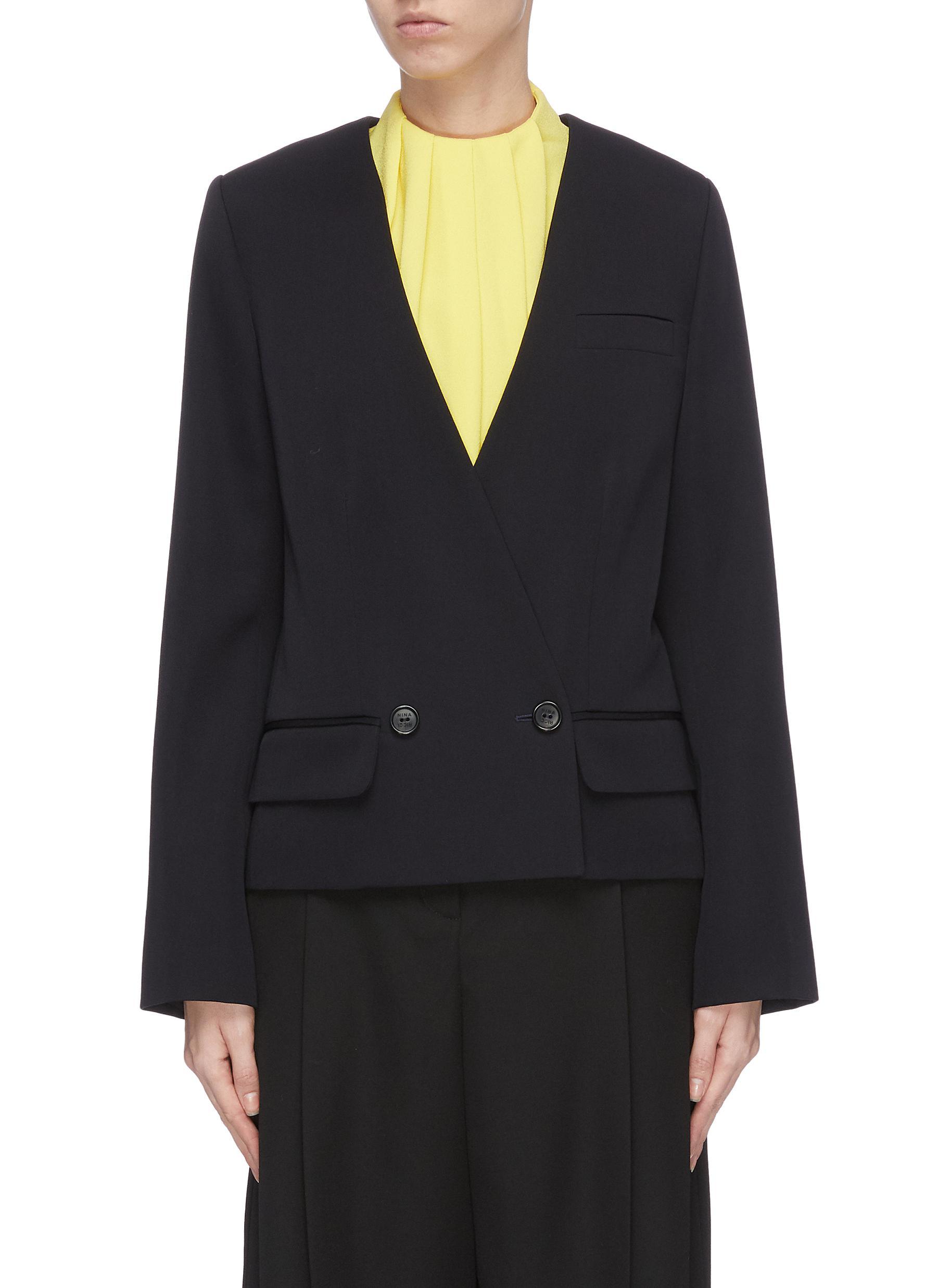 shop Nina Ricci Cropped tuxedo blazer online