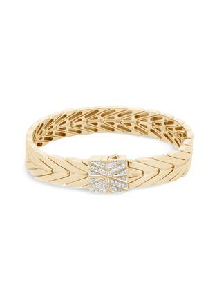 Main View - Click To Enlarge - JOHN HARDY - 'Modern Chain' diamond 18k gold bracelet